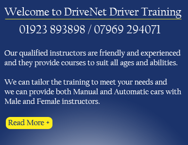 At DriveNet DT our fully qualified instructors are patient, experienced and friendly.  Many of them are ex-AA and BSM. Everybody is an individual, so we tailor the driving lessons to your needs.